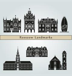 rzeszow landmarks vector image