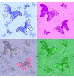 seamless pattern from butterflies vector image