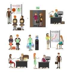 Set of business people icons design vector