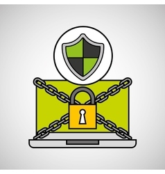 Shield protection security internet technology vector