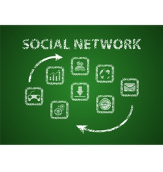 Social network on board vector