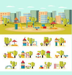 summer playground concept vector image