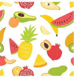 summer seamless pattern with delicious sweet vector image