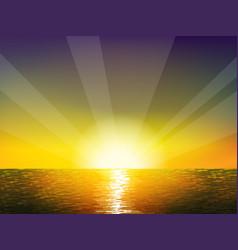 Sunrise on the sea vector image vector image