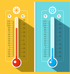 thermometer icons temperature measurement vector image