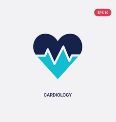 Two color cardiology icon from health and medical vector