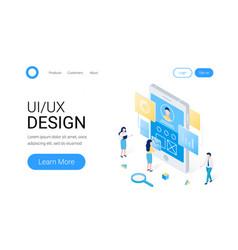 ui ux design isometric concept vector image