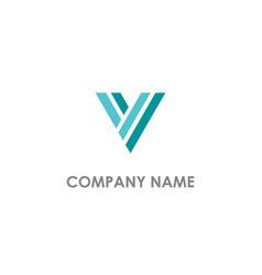 v initial company logo vector image
