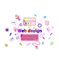 Web design concept creative process software vector