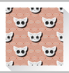 Animal seamless pattern collection with cat 8 vector image vector image