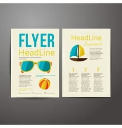 Brochure advertising for your summer business vector image