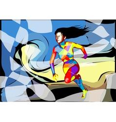 female runner vector image