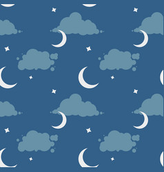 seamless pattern with night sky vector image