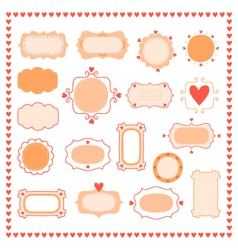 set romantic frames vector image