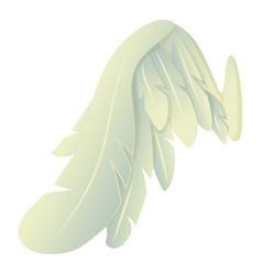 angelic wing icon cartoon style vector image