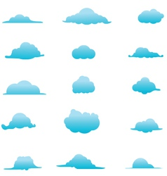 Cloud Collection 6 vector image