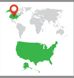 Detailed map of usa and world map navigation set vector