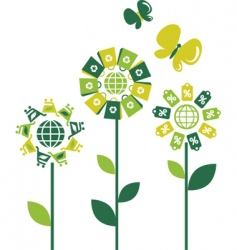 environmental flowers vector image vector image