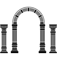 fantasy arch and columns stencil fourth variant vector image vector image