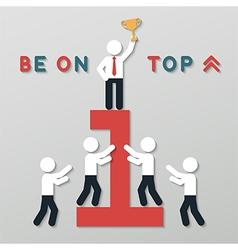 idea leadership business concept vector image vector image