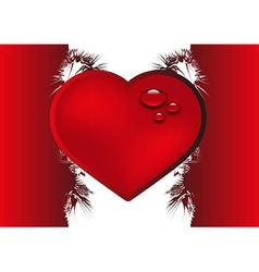 Valentine background with heart vector image vector image