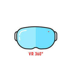 vr glasses 360 simple icon vector image
