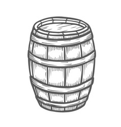 wooden craft beer vector image