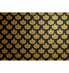 black and gold glamour pattern vector image vector image