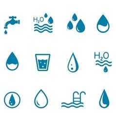 blue water set vector image vector image