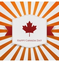 Happy canada day striped background vector