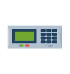 house door lock access equipment icon vector image vector image