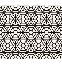 Seamless hexagon rounded grid pattern vector