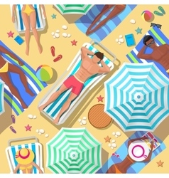 Beach holidays seamless background vector image