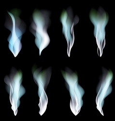 dark blue abstract background smoke vector image