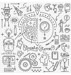 Thinking science - set icons vector image