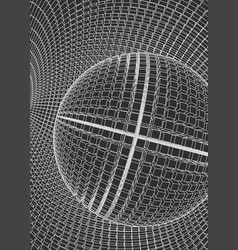 Abstract 3d illuminated distorted mesh sphere vector