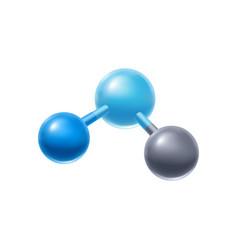 Abstract molecule or atom vector