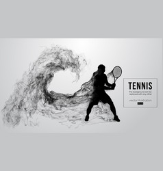 Abstract silhouette of a tennis player man male vector