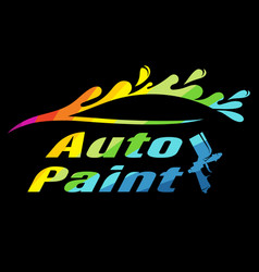 Auto painting color symbol for business vector