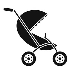 Baby stroller icon simple style vector