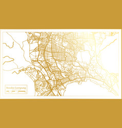 Bandar lampung indonesia city map in retro style vector