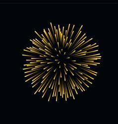 beautiful gold firework bright firework isolated vector image