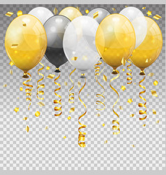 Birthday party with balloons vector