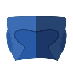 Boxing helmet isolated icon vector image