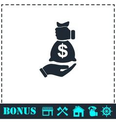 Bribe icon icon flat vector