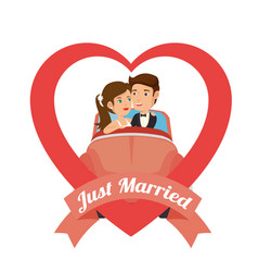 Bride and groom design vector