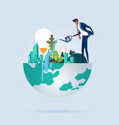Business environment vector