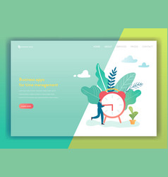 Business project time management landing page vector