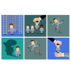 business success concept set vector image
