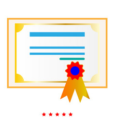 Certificate it is icon vector